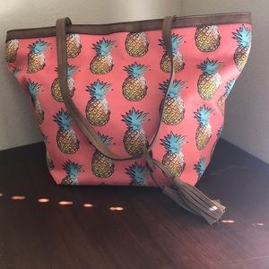 Style & co Pineapple Canvas Tote
